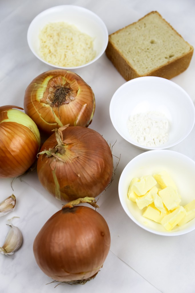 ingredients for vegan french onion soup