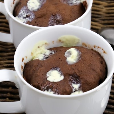VEGAN PEANUT BUTTER CHOCOLATE MUG CAKE