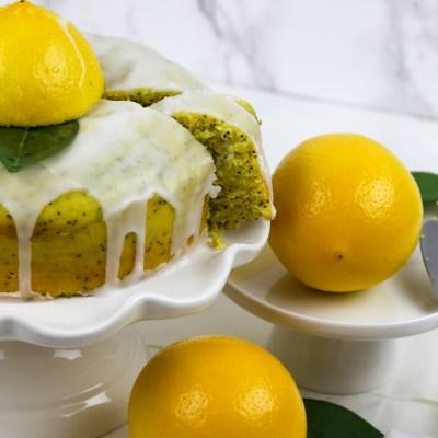 VEGAN LEMON POPPY SEEDS DRIZZLE CAKE