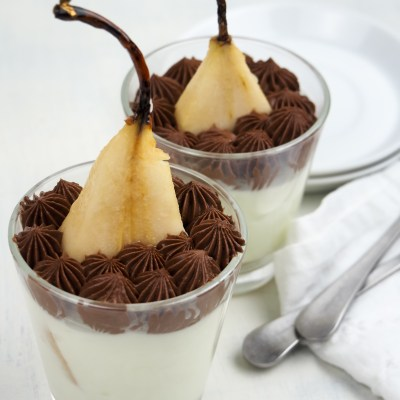 HIDDEN PEAR CHEESECAKE MOUSSE