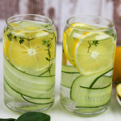 LEMON, CUCUMBER AND THYME INFUSED WATER