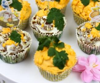 vegan carrot cake muffin