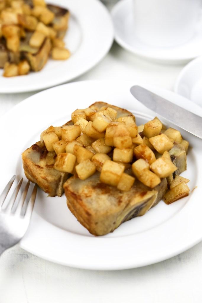 vegan banana bread french toast