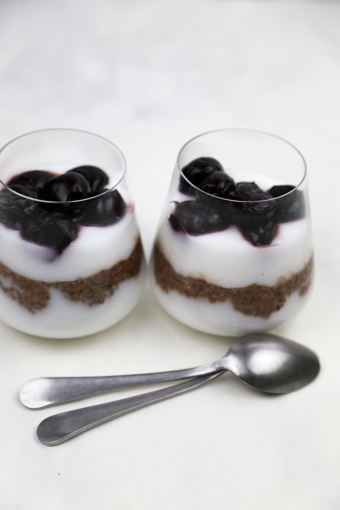 black forest chia pudding