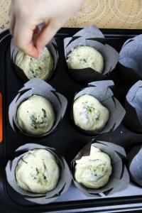 garlic bread cupcakes