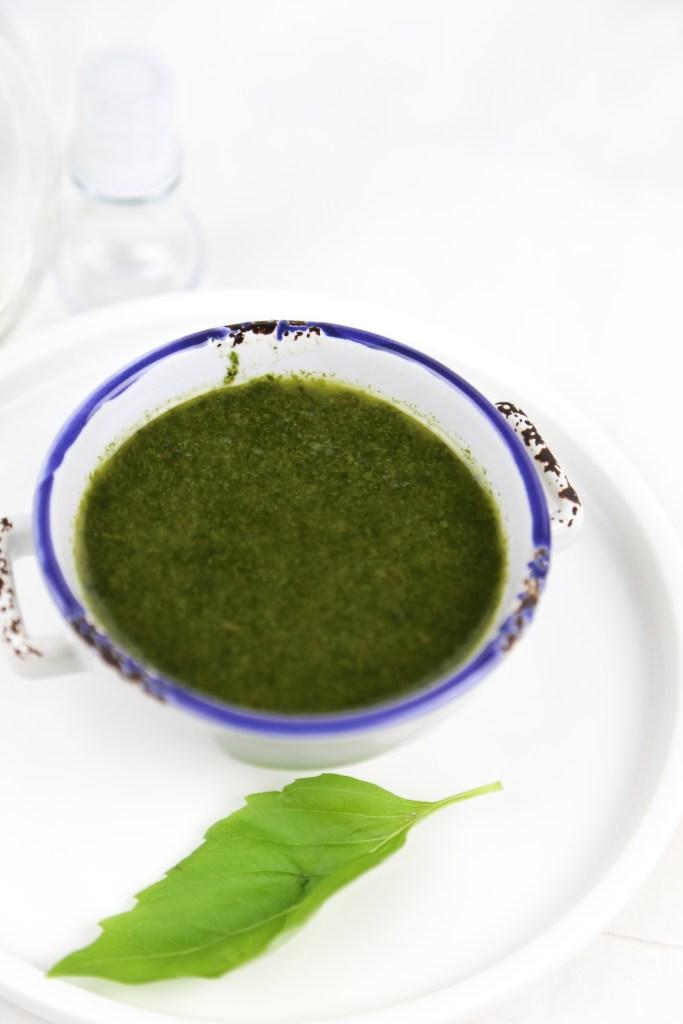 fresh basil oil