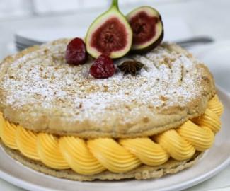 vegan mango cake