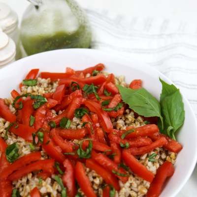 FARRO SALAD WITH TOMATOES AND BASIL