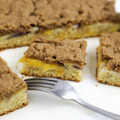 COFFEE CAKE WITH NECTARINES