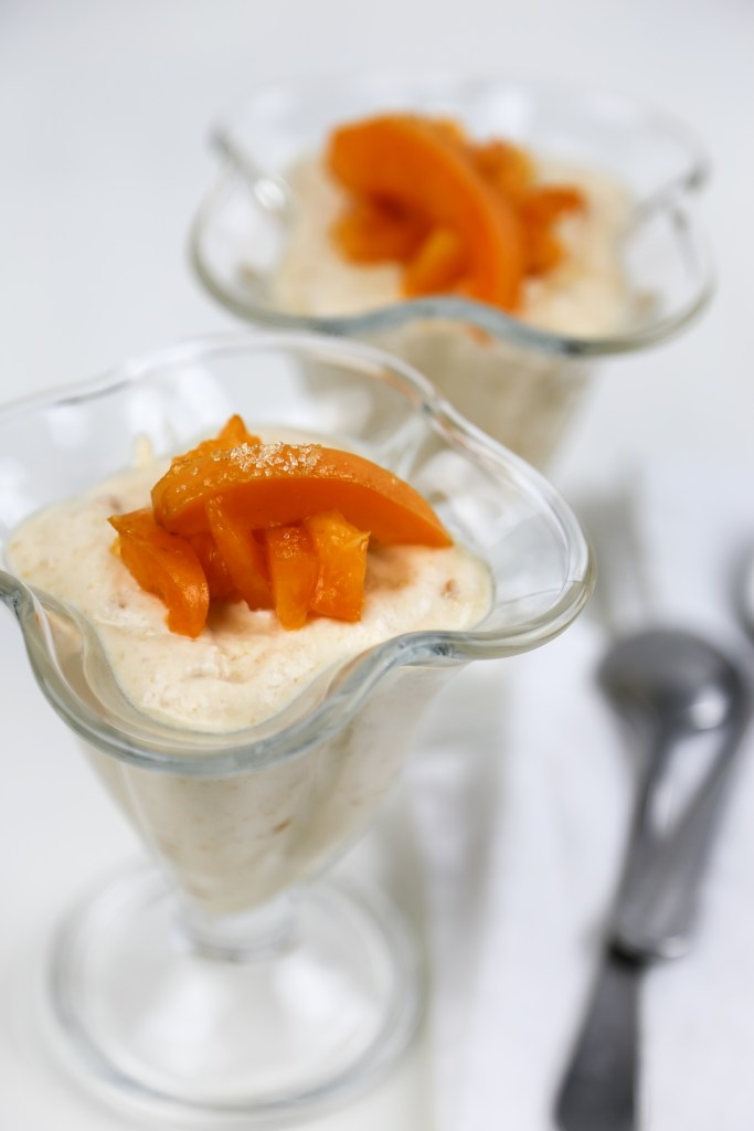 apricot cream mousse