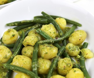 green beans and potato